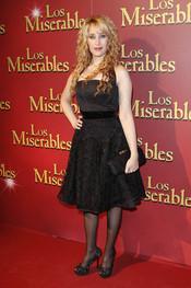 La cantante Geraldine Larrosa en el estreno de 'Los Miserables' en Madrid