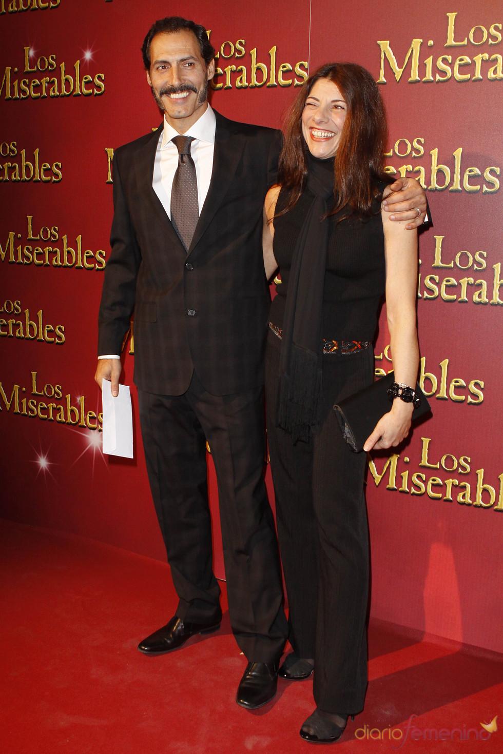 Manuel Bandera y Clara Sanchís en el estreno de 'Los Miserables'