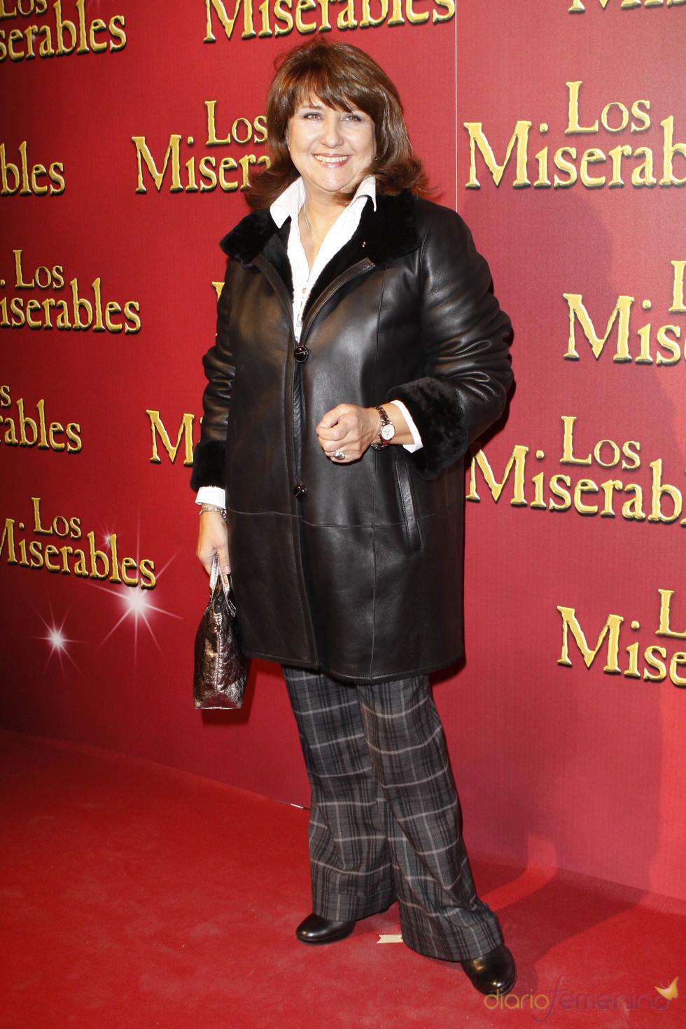 Soledad Mallol en el estreno de 'Los Miserables'