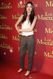 Dafne Fernández en la presentación del musical de 'Los Miserables'