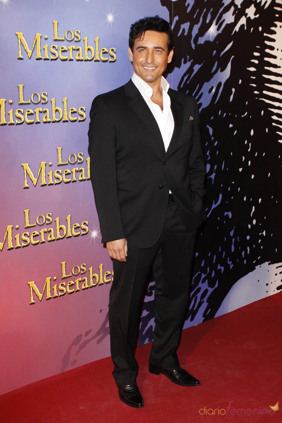 Carlos Marin en la presentación de la oba de teatro 'Los Miserables'