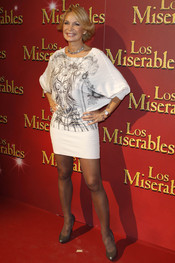 Marlene Morreau en el estreno del musical 'Los Miserables'