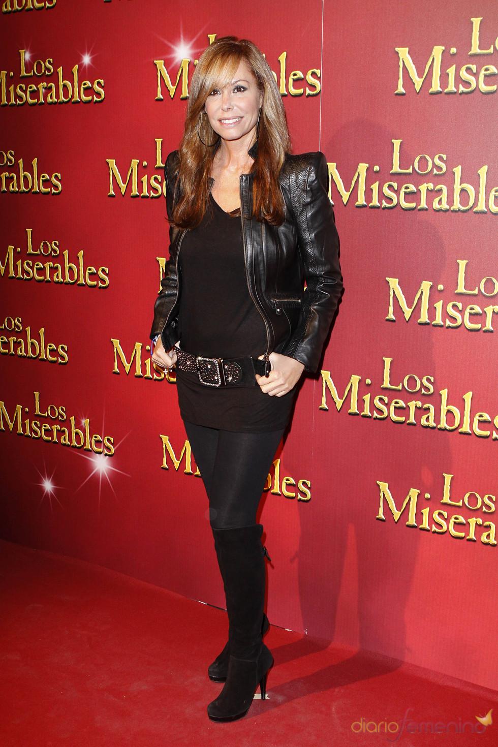 Lara Dibildos acudió a la presentación de 'Los Miserables'