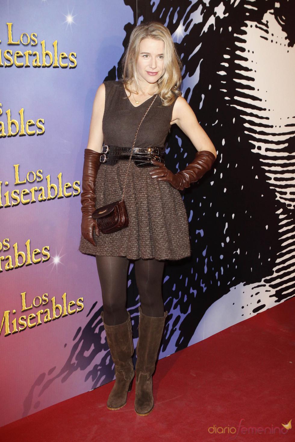 La ex modelo María León en la presentación de 'Los Miserables'