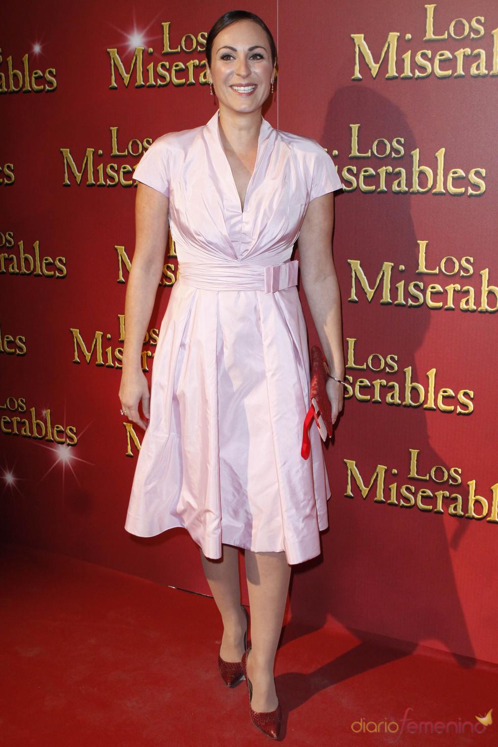 Ana Millán en el estreno del musical 'Los Miserables'