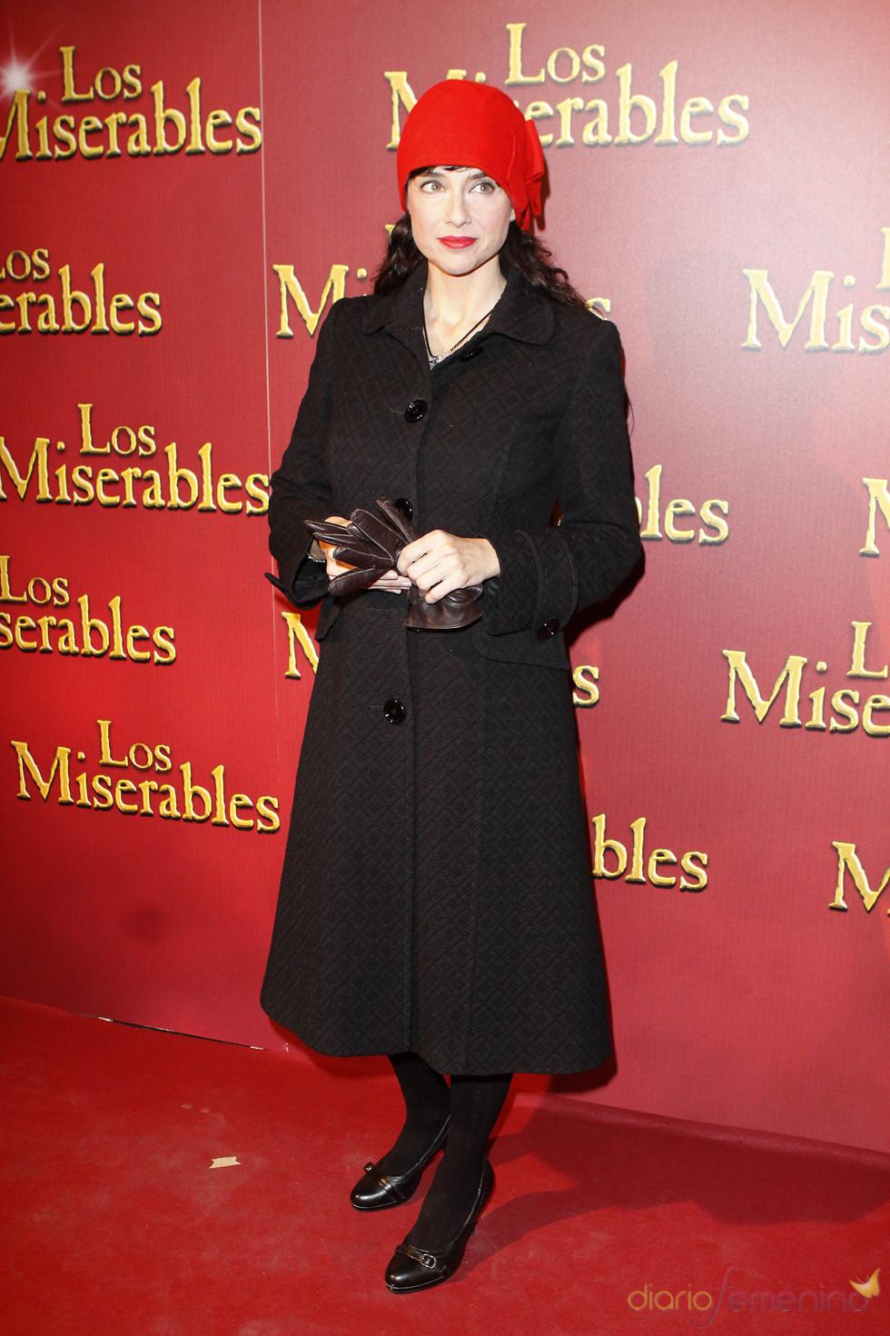 Beatriz Rico en el teatro para ver el estreno de 'Los Miserables'