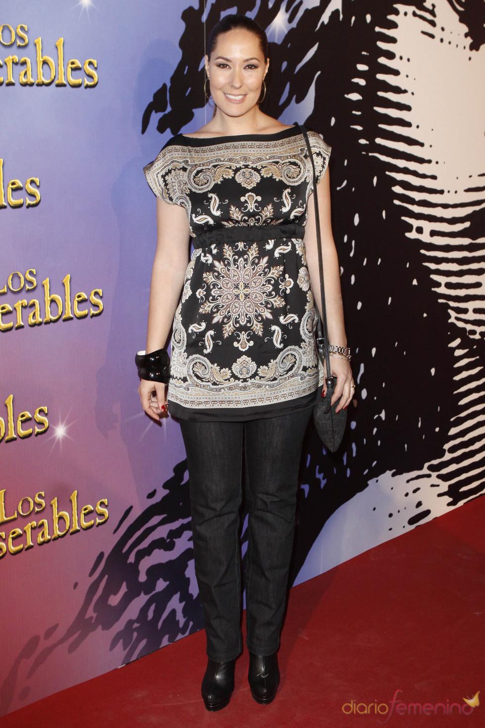 Rosario Mohedano en el estreno de teatro 'Los Miserables'