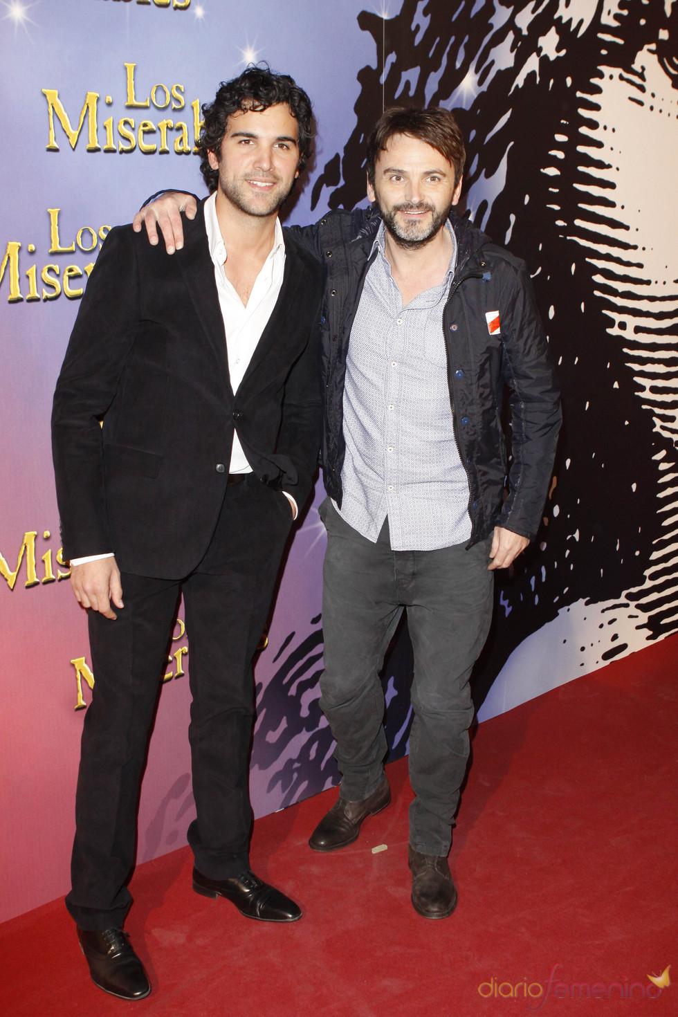 Fernando Tejero y Juan Pablo Di Pace en la presentación de 'Los Miserables'