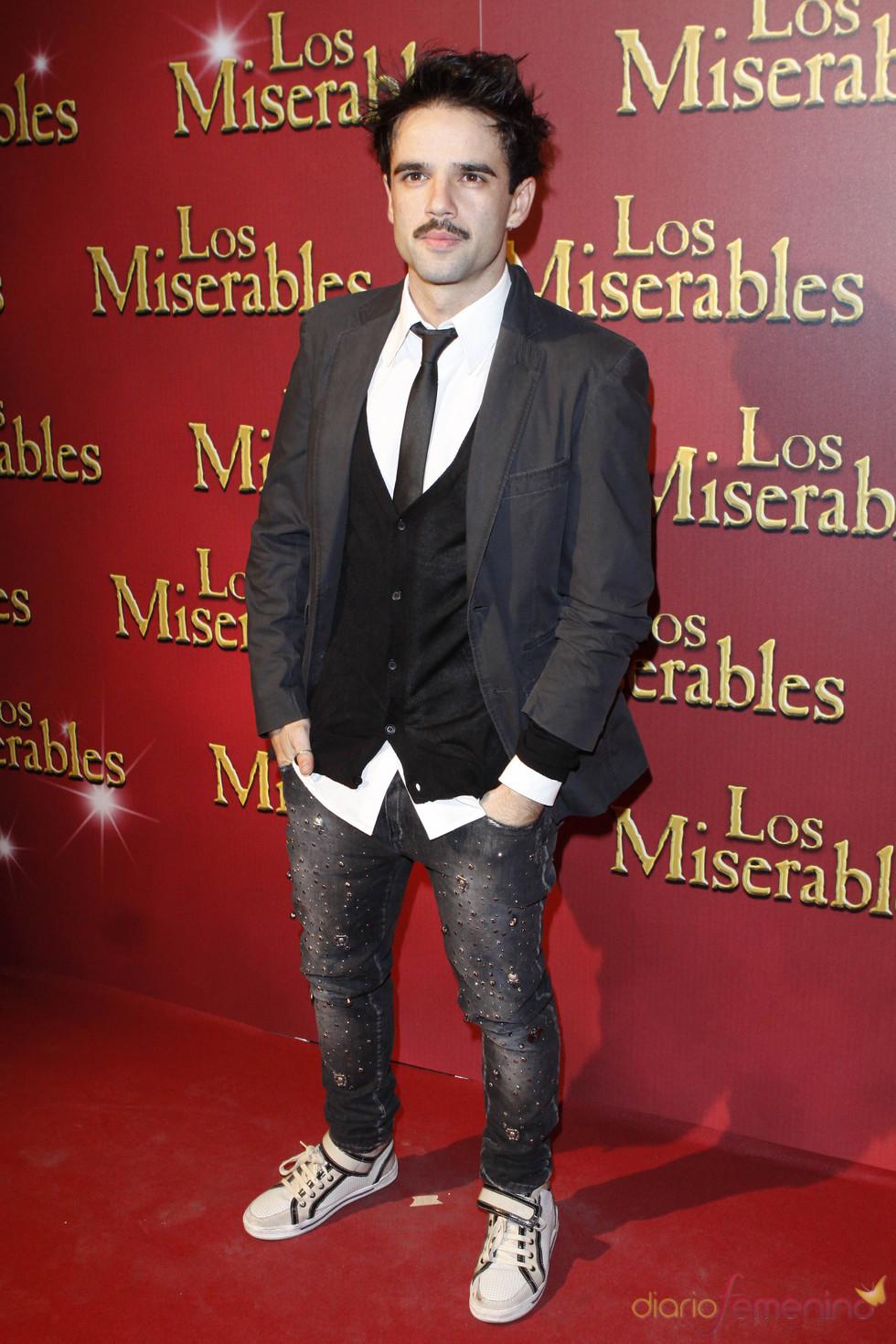 Raúl Peña en la presentación en Madrid de 'Los Miserables'