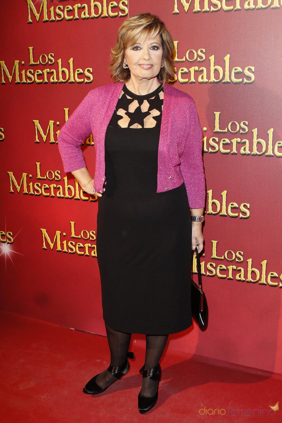 María Teresa Campos a su llegada al estreno de 'Los Miserables'