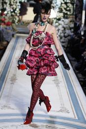 Vestido estampado de volante de Lavin para H&M