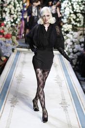 Vestido negro con mangas abombadas de Lavin para H&M