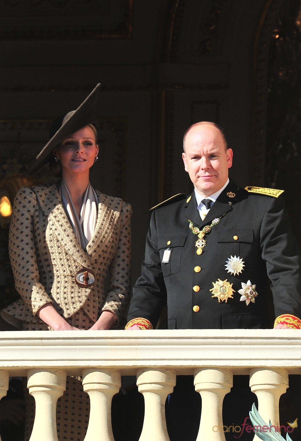 Charlene Wittstock y Alberto de Mónaco el Día del Principado