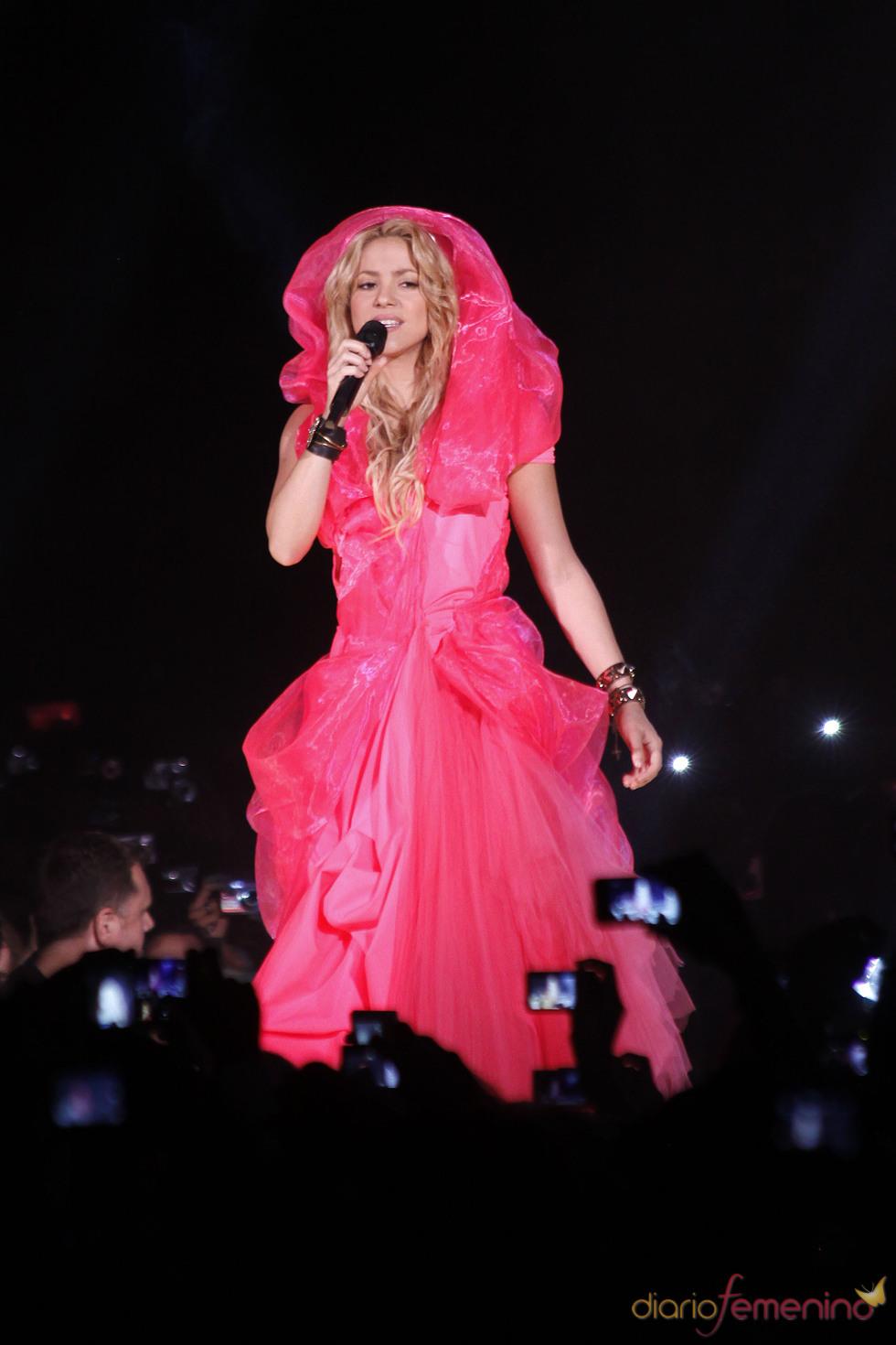 Shakira en el concierto de Madrid