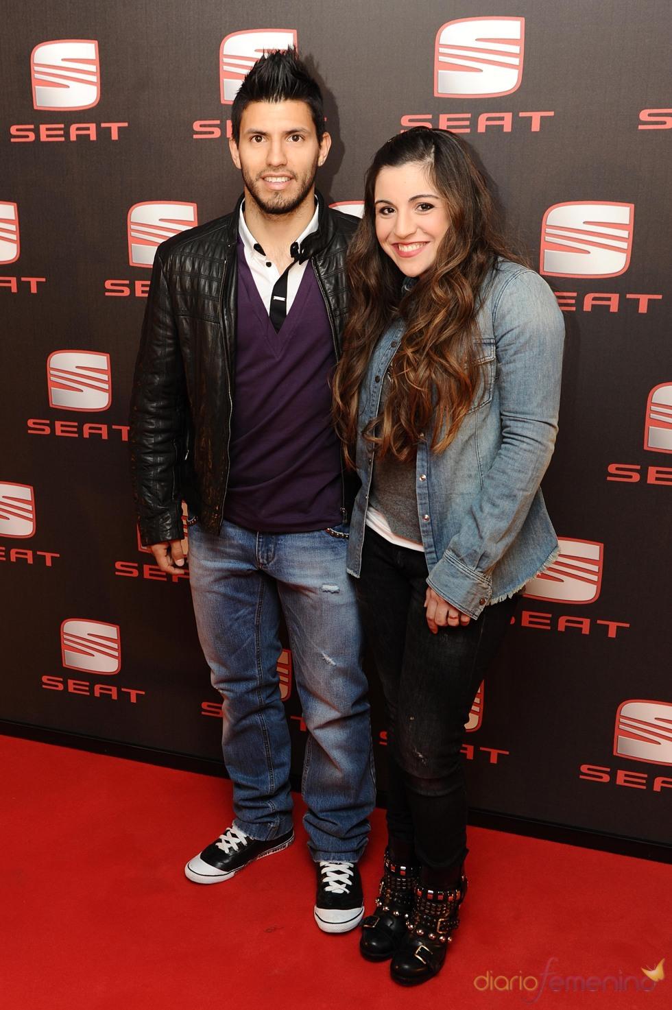 Sergio Agüero y Giannina Maradona en el concierto de Shakira