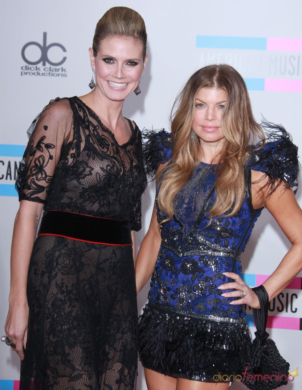 Fergie y Heidi Klum posan juntas