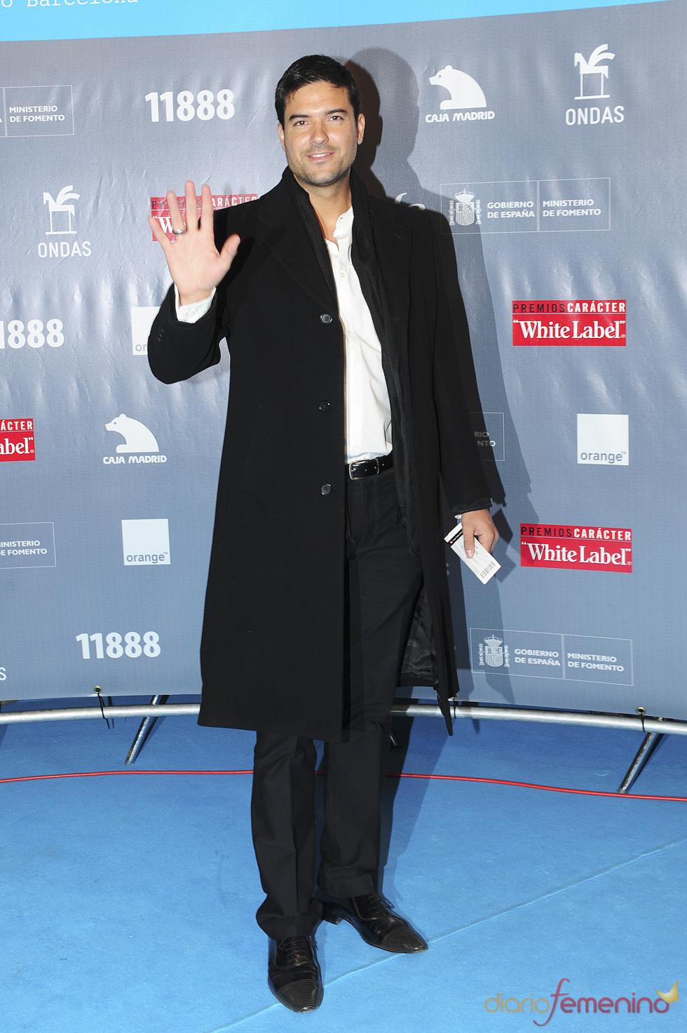 Javier Estrada durante los premios Ondas 2010
