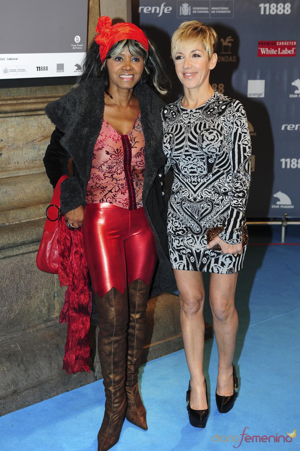 Ana Torroja y Regina Dos Santos en los premios Ondas 2010