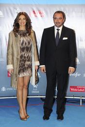 Carlos Herrera y la presentadora Marilo Montero en los premios Ondas 2010