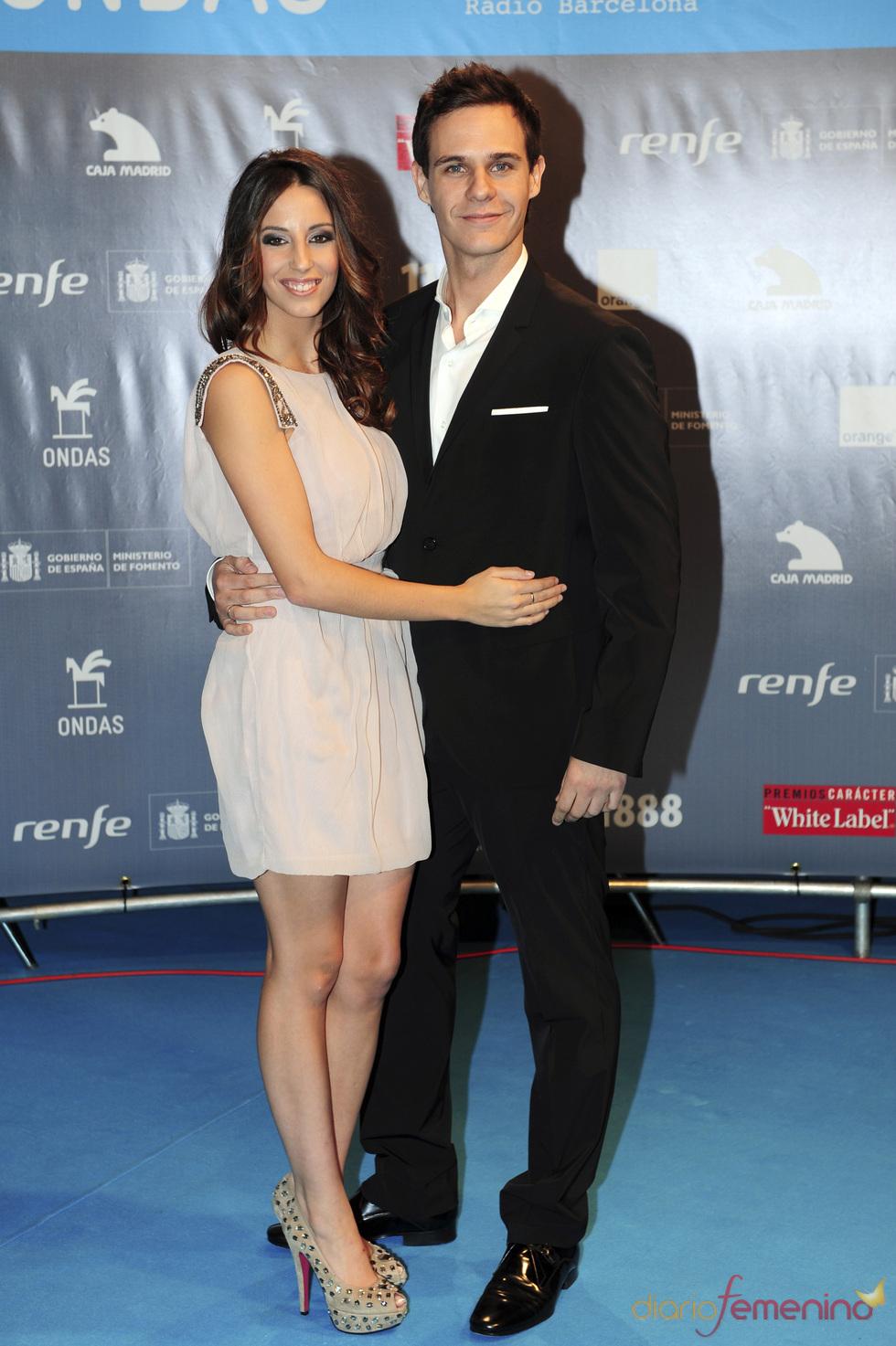 Christian Gálvez y su novia Almudena Cid en los premios Ondas 2010
