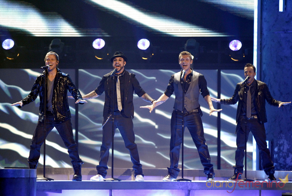 Backstreet Boys actuaron el la ceremonia de los American Music Awards 2010
