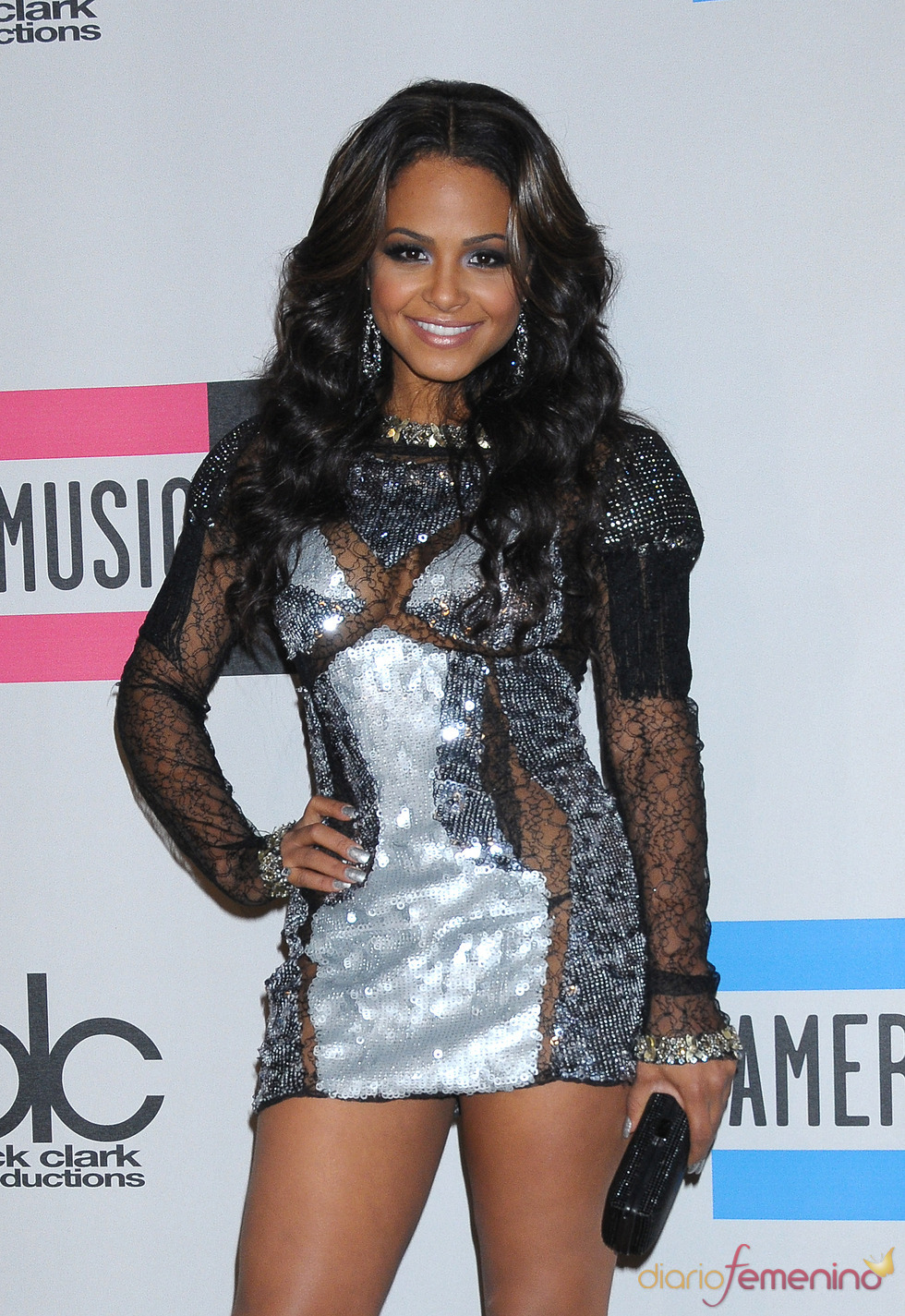 Christina Milian a su llegada a los American Music Awards 2010
