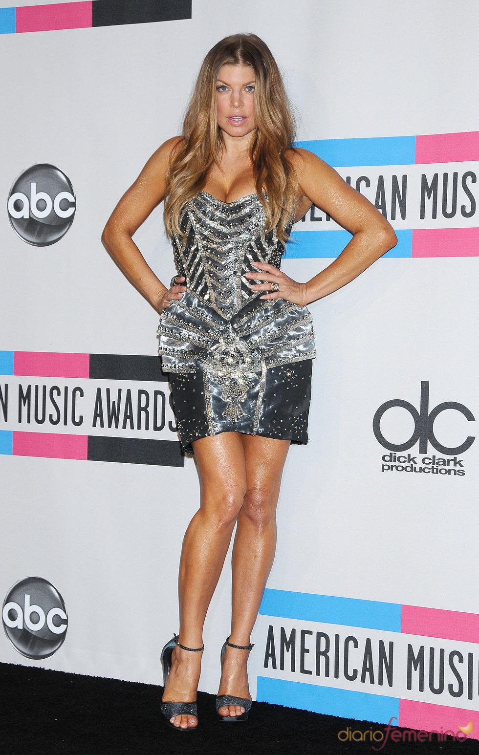 Fergie a su llegada a los American Music Awards 2010