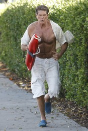 David Hasselhoff con el torso al aire