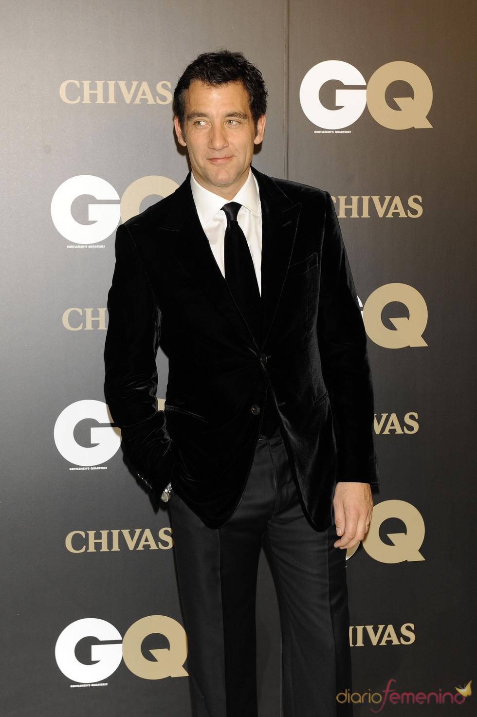 Clive Owen en los premios españoles GQ 2010