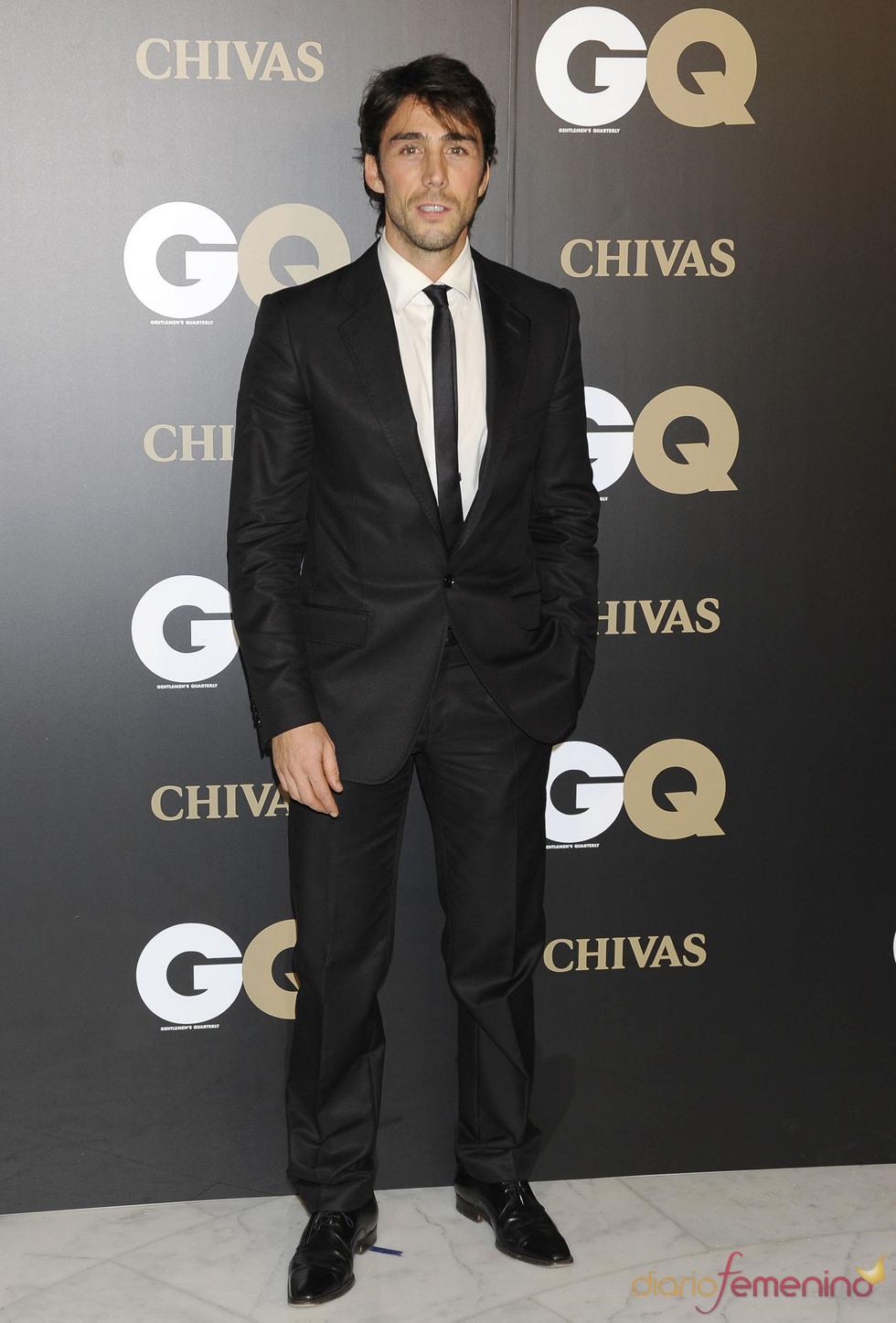 Rubén Sanz en los premios españoles GQ 2010