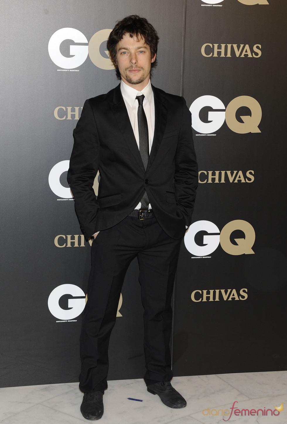 Jan Cornet en los premios españoles GQ 2010