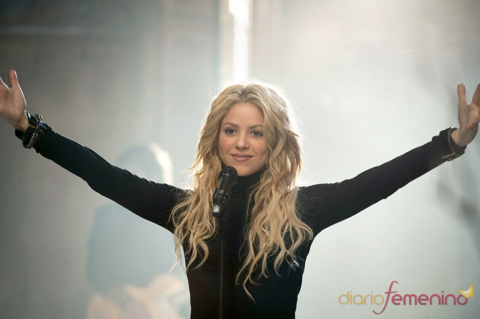 Shakira en el rodaje del anuncio de Freixenet