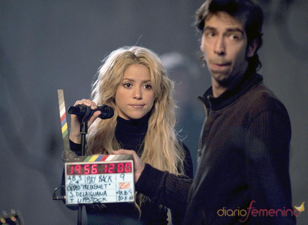 Shakira en el rodaje en Barcelona del anuncio de Freixenet