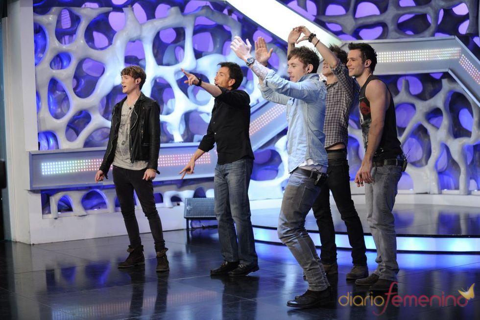 McFly animando al público de 'El Hormiguero'