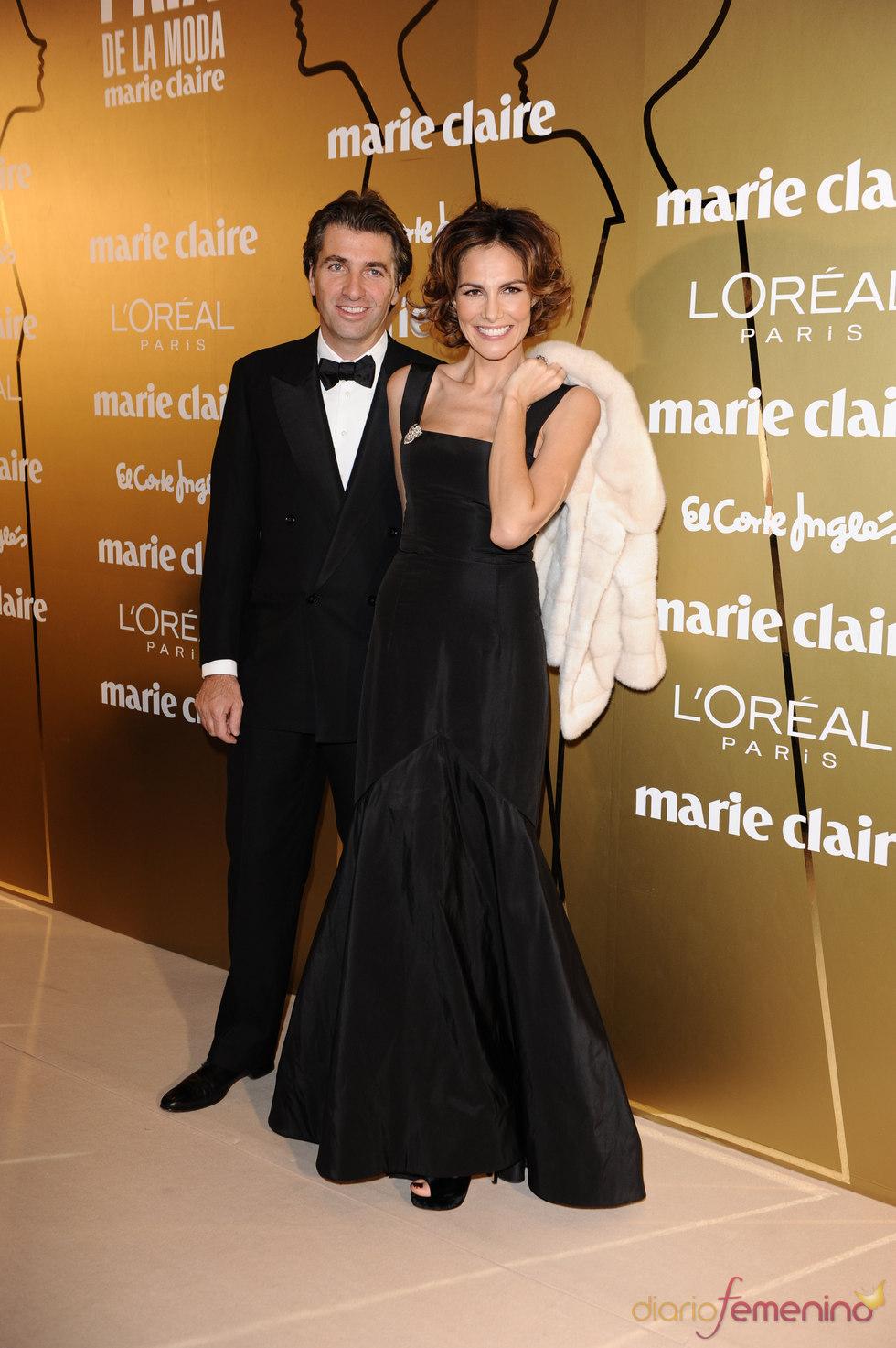 Adriana Abascal y Mathias Helleu en los Premios Marie Claire 2010