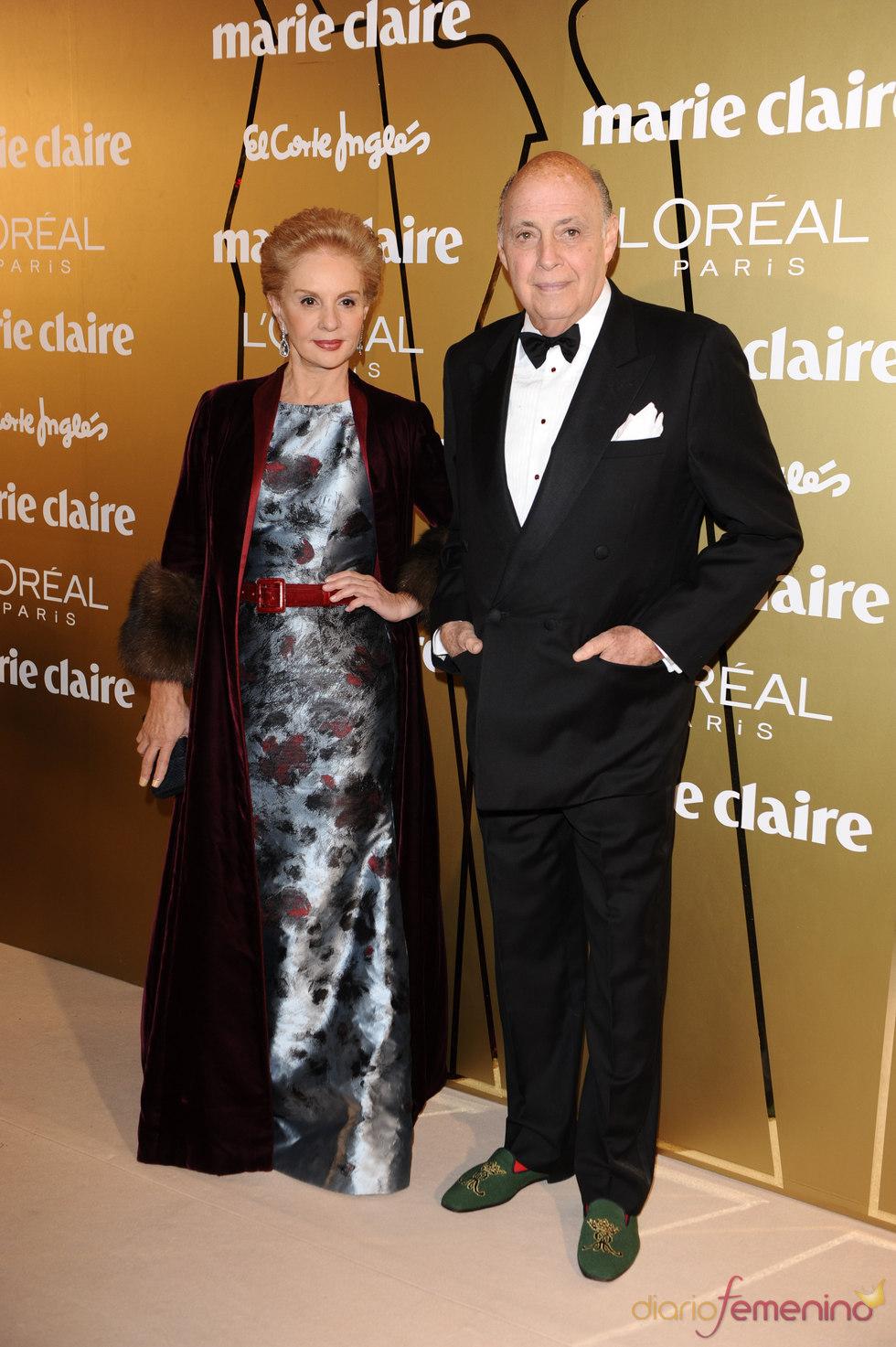 Carolina Herrera y su marido en los Premios Marie Claire 2010