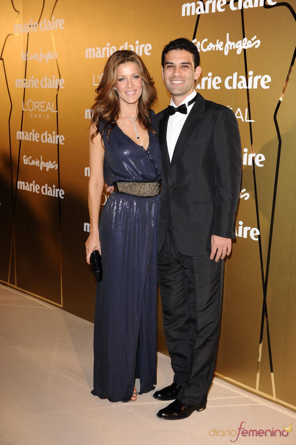 Jaydy Mitchel y Rafa Márquez en los Premios Marie Claire 2010
