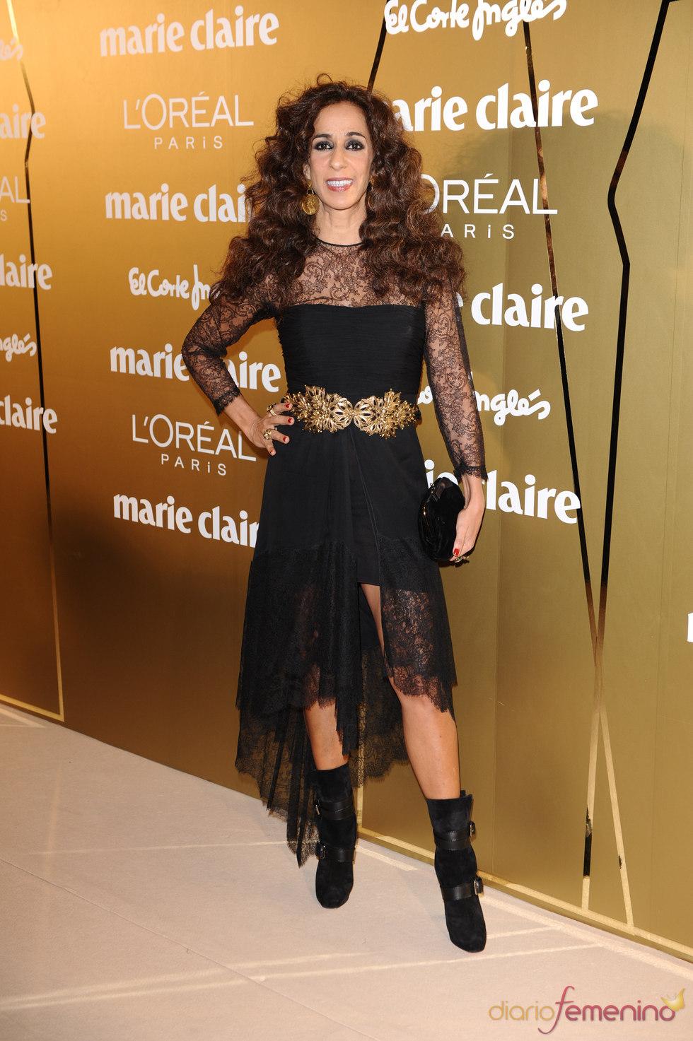 Rosario Flores en los Premios Marie Claire 2010