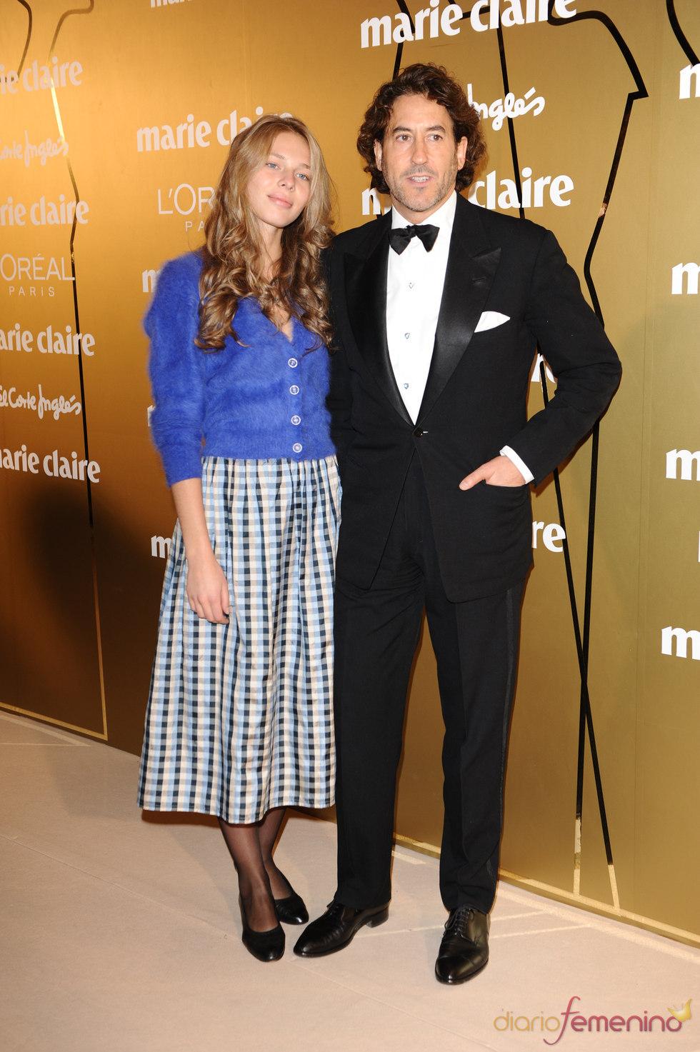 Álvaro de Marichalar y Ekaterina en los Premios Marie Claire 2010