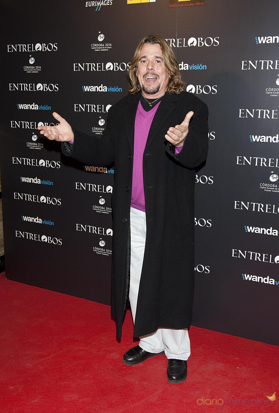 Juan Muñoz en el estreno de 'Entrelobos'
