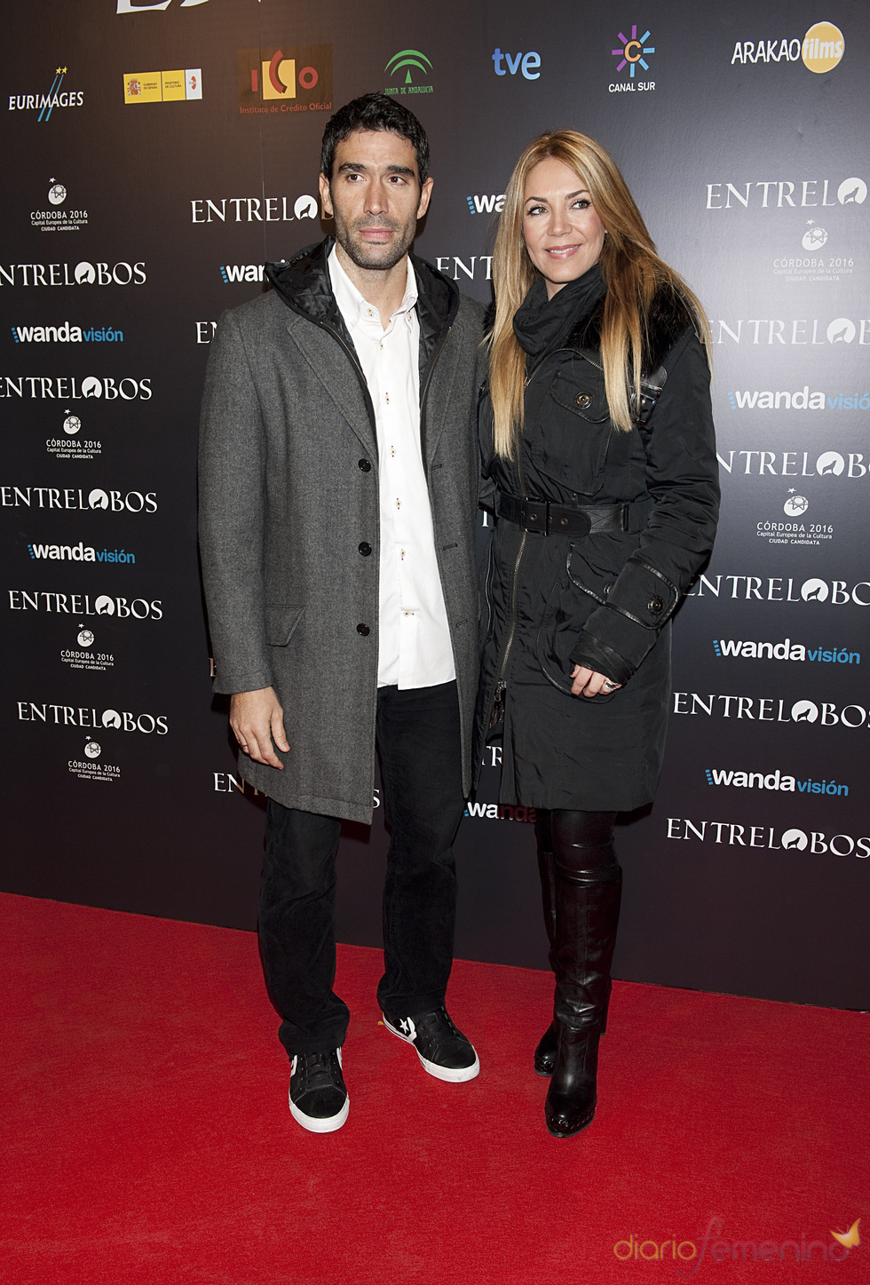 Fernando Saz e Ingrid Asensio en el estreno de 'Entrelobos'