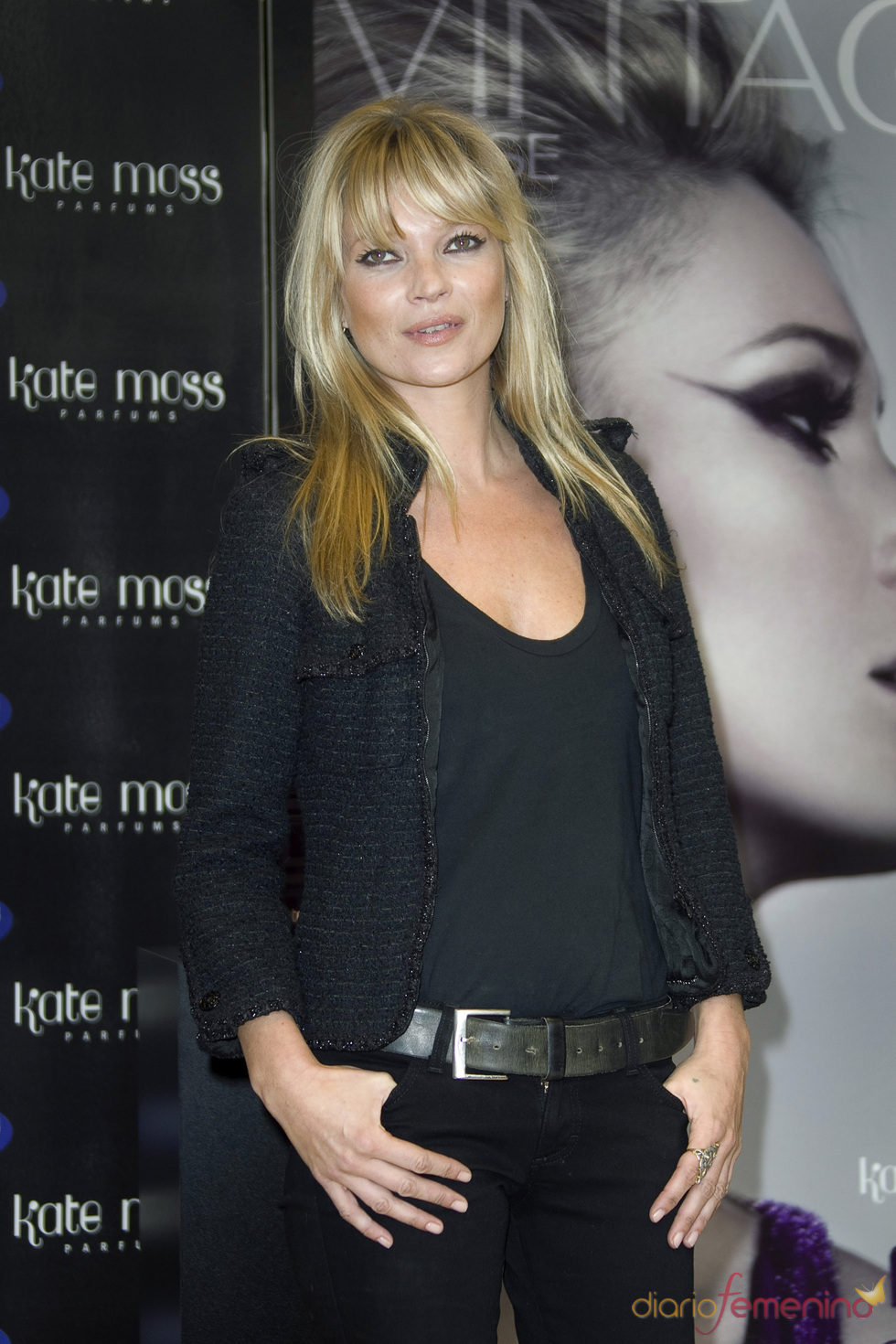 Kate Moss presenta su nuevo perfume, 'Vintage Muse'