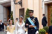 Los Príncipes de Asturias el día de su boda