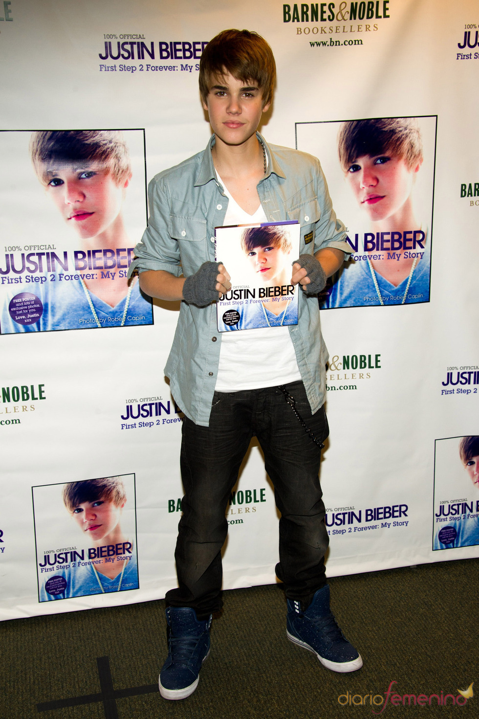 Justin Bieber presenta su libro en Nueva York