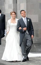 Angélica Rivera y Enrique Peña, recién casados