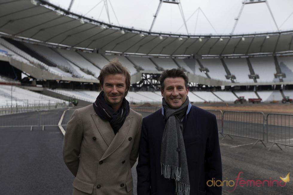 David Beckham y Sebastian Coe en Londres