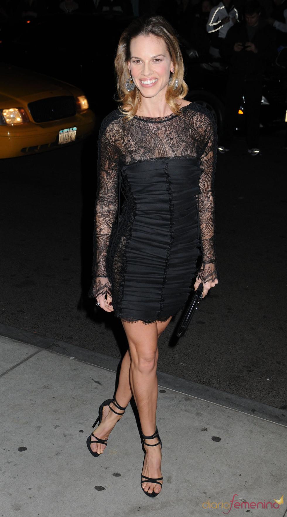 Hilary Swank no quiso faltar a la ceremonia de los premios Gotham