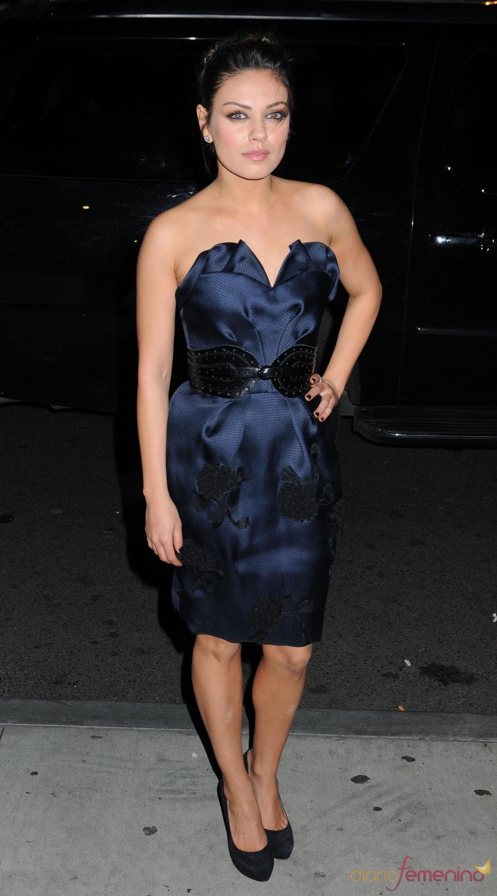 Mila Kunis asistió a la ceremonia de los premios Gotham