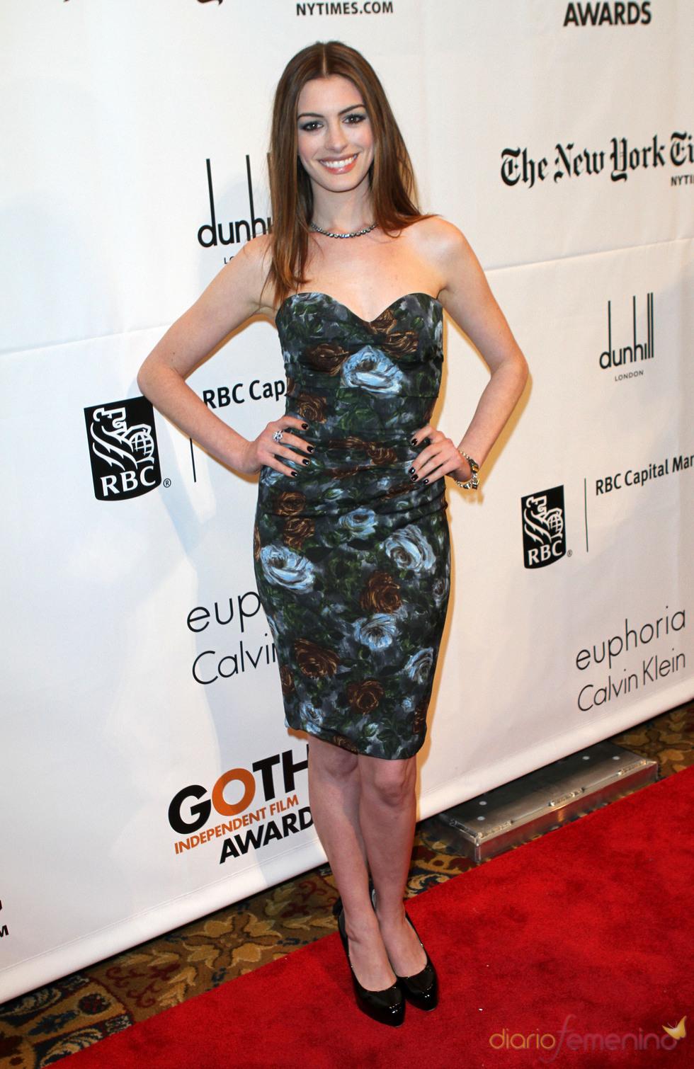 Anne Hathaway en la ceremonia de los premios Gotham en Nueva York
