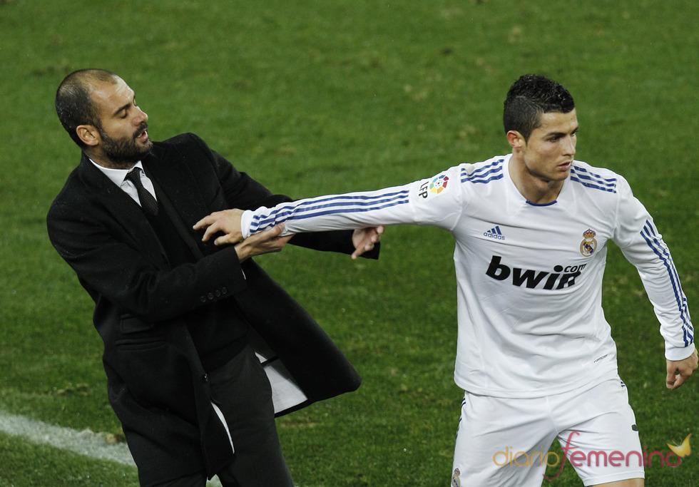 Mosqueo de Cristiano Ronaldo y Guardiola en el clásico